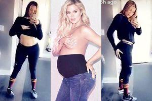 Khloe Kardashian chwali się ciałem miesiąc po porodzie (FOTO)