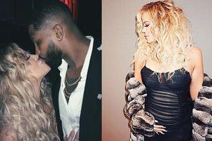 """Khloe Kardashian chwali się ciążowym brzuszkiem. """"Mama i tata"""" (FOTO)"""