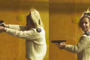 """Doda szykuje się do roli w """"Pitbullu"""" na strzelnicy…"""