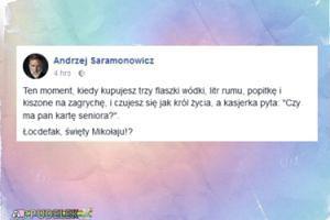 Andrzej Saramonowicz o alkoholowych zakupach