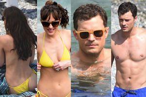 """Dakota Johnson i Jamie Dornan nago na planie nowego """"Greya""""! (ZDJĘCIA)"""