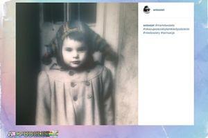 Żona Kondrata pokazuje zdjęcie z dzieciństwa