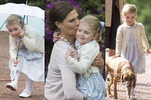 Księżniczka Estelle na urodzinach swojej mamy! Słodsza od George'a? (ZDJĘCIA)