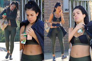 Płaski brzuch Georginy Rodriguez wychodzi z siłowni. Widać, że urodziła miesiąc temu? (ZDJĘCIA)