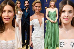 Gwiazdy na gali Emmy 2018: Jessica Biel, Heidi Klum, Scarlett Johansson, Millie Bobby Brown... (ZDJĘCIA)