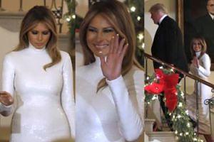 Melania Trump w nowej fryzurze zadaje szyku na balu w Białym Domu (ZDJĘCIA)
