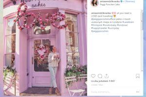 Różowa Wendzikowska czuje miłość w Londynie