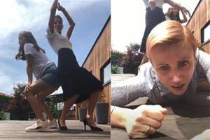 """Weronika Rosati, Julia Wieniawa i Katarzyna Zielińska kręcą pupami do piosenki Beyonce. """"Specjalizujemy się również w występach tanecznych"""""""