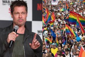 """Brad Pitt nie zgodził się na zostanie """"twarzą"""" """"parady heteroseksualistów"""". Zagroził pozwem!"""