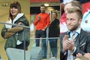 Gwiazdy kibicują na meczu Polska - Macedonia: Anna Lewandowska, Zofia Zborowska, Andrzej Wrona