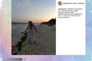 Magda Gessler szczęśliwa w raju