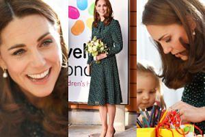 Roześmiana księżna Kate koloruje i wycina razem z podopiecznymi szpitala dziecięcego w Londynie (ZDJĘCIA)
