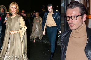 """Zmarnowana Celine Dion zmierza na paryski pokaz Valentino w towarzystwie """"przyjaciela"""" (FOTO)"""