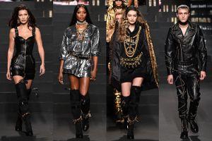 Wiecznie młoda Naomi Campbell idzie po wybiegu Moschino x H&M w towarzystwie rodzeństwa Hadid (ZDJĘCIA)