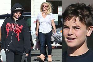 Pozbawiony stanika biust i rozwiane doczepy Britney Spears na spacerze z synami (ZDJĘCIA)