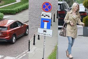 Magdalena Ogórek parkuje BMW na zakazie