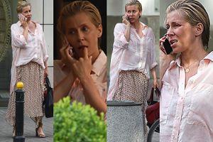 Ciężarna Kasia Warnke z torebką za 12 tysięcy kłóci się przez telefon na ulicy (ZDJĘCIA)