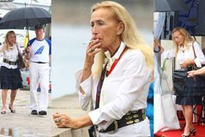 """""""Naturalna"""" Bogumiła Wander spaceruje z mężem i torbą Louis Vuitton za 5 TYSIĘCY (ZDJĘCIA)"""