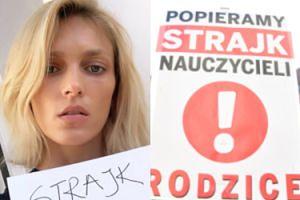 """Anja Rubik hejtowana za wsparcie protestu nauczycieli! """"A strajk bibliotekarzy czy sprzątaczek też będziesz popierać?!"""""""