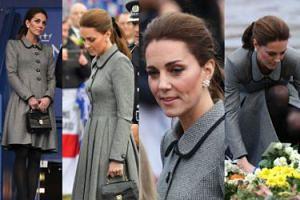 Smutna i szara księżna Kate składa hołd ofiarom katastrofy w Leicester (ZDJĘCIA)