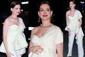Anne Hathaway w ZAAWANSOWANEJ CIĄŻY promuje nowy serial (FOTO)