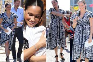 """Meghan Markle i książę Harry tulą dzieci i pląsają na ulicy podczas wizyty w """"STOLICY MORDERSTW"""" (ZDJĘCIA)"""