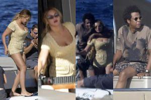 Ogromny jacht, złoty kostium i wspólne zdjęcia: tak wyglądają luksusowe wakacje Beyonce i Jaya Z (ZDJĘCIA)