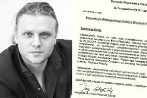 Rodzice Piotra Woźniaka-Staraka dziękują olsztyńskiej Policji za pomoc w poszukiwaniach syna