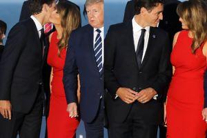 Melania Trump wita się czule z premierem Kanady na oczach Donalda Trumpa (FOTO)