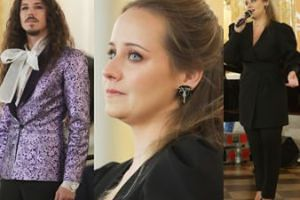 Michał Szpak łypie ukradkiem na siostrę podczas wspólnego występu. Czy Ma-ma-ma-marlena wypada na scenie lepiej od niego?