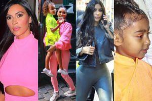 Wypindrzone Kim Kardashian i North West lansują się w Nowym Jorku (ZDJĘCIA)