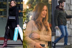 Marta Żmuda Trzebiatowska dźwiga wielkie torby na zakupach z mężem (ZDJĘCIA)