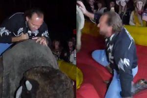 Emil ujeżdża mechanicznego byka na II Zlocie Fanów Dody. MĘSKI?