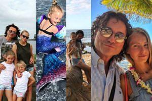 Wakacje bez Photoshopa: Rubikowie z córkami wypoczywają na Hawajach (ZDJĘCIA)