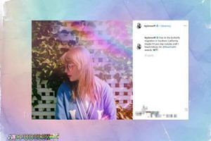 TĘCZOWA Taylor Swift pozuje na Instagramie
