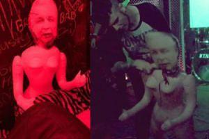 Zespół metalowy przebrał lalkę z sexshopu za Jarosława Kaczyńskiego i PODERŻNĄŁ JEJ GARDŁO podczas koncertu (WIDEO)