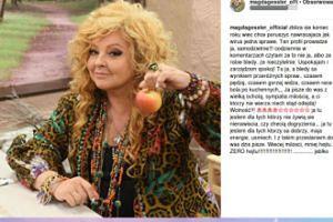 Magda Gessler kusi jabłkiem i przesłaniem