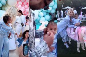 Tak wyglądały pierwsze urodziny córki Khloe Kardashian. Nie zabrakło niewiernego Tristana... (ZDJĘCIA)