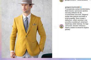 Musztardowy Grzegorz Krychowiak powraca jako model