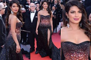 Cannes 2019: Promienna Priyanka Chopra debiutuje na festiwalu w cekinowej kreacji Cavalli (FOTO)