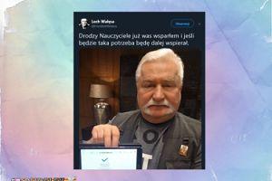 Lech Wałęsa wspiera strajkujących nauczycieli. Przelał 1000 złotych...