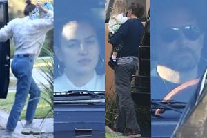 Pochmurni Irina Shayk i Bradley Cooper chowają się przed paparazzi na pierwszych zdjęciach po Oscarach