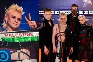 """Skandal polityczny na Eurowizji: Islandczycy wyciągnęli flagi z napisem """"Uwolnić Palestynę"""""""