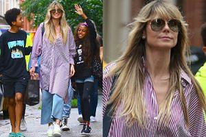Dumna Heidi Klum zabrała dzieci na spacer pod okiem paparazzi (ZDJĘCIA)