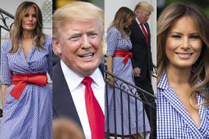 Szczęśliwy Donald i Melania w stylizacji za 15 tysięcy na obchodach Dnia Niepodległości (ZDJĘCIA)