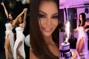 """Justyna Gradek kończy 27 lat na bogato. Była """"suknia ślubna"""", fajerwerki i tort z logo Chanel"""