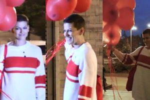 Alżbeta Lenska świętuje powrót do zdrowia na schodach Pałacu Kultury (WIDEO)
