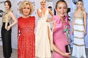 Tłum gwiazd na SAG Awards: Lady Gaga, Emma Stone, Emily Blunt, Margot Robbie, Jane Fonda... (DUŻO ZDJĘĆ)
