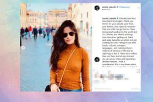 Sutki Camili Cabello pozdrawiają z Rzymu