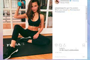 Wysportowana Wieniawa motywuje do ćwiczeń w domu